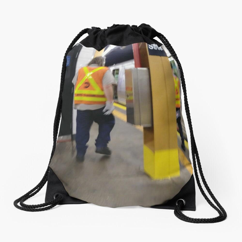 Subway Drawstring Bag