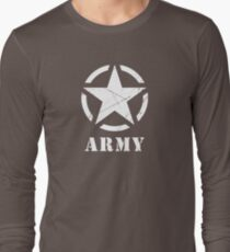 US Army Star WWII Veteran Military Long Sleeve T-Shirt