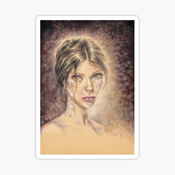 Made of Something Different Fantasy Art Portrait Sticker
