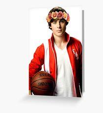 Zac Efron Blumenkrone Grußkarte