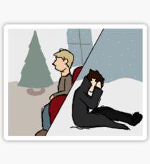 A Post-Reichenbach Christmas Sticker