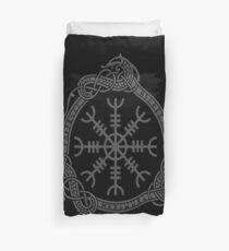 Aegishjalmur- Viking Helm of Awe and Terror Duvet Cover