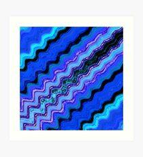 Blue Tranquil Waves Art Print