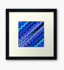 Blue Tranquil Waves Framed Print