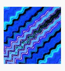 Blue Tranquil Waves Photographic Print