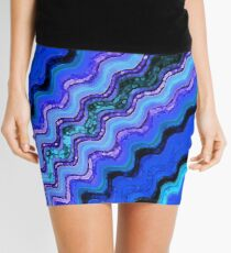 Blue Tranquil Waves Mini Skirt
