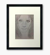 Stana Katic Illustration Framed Print