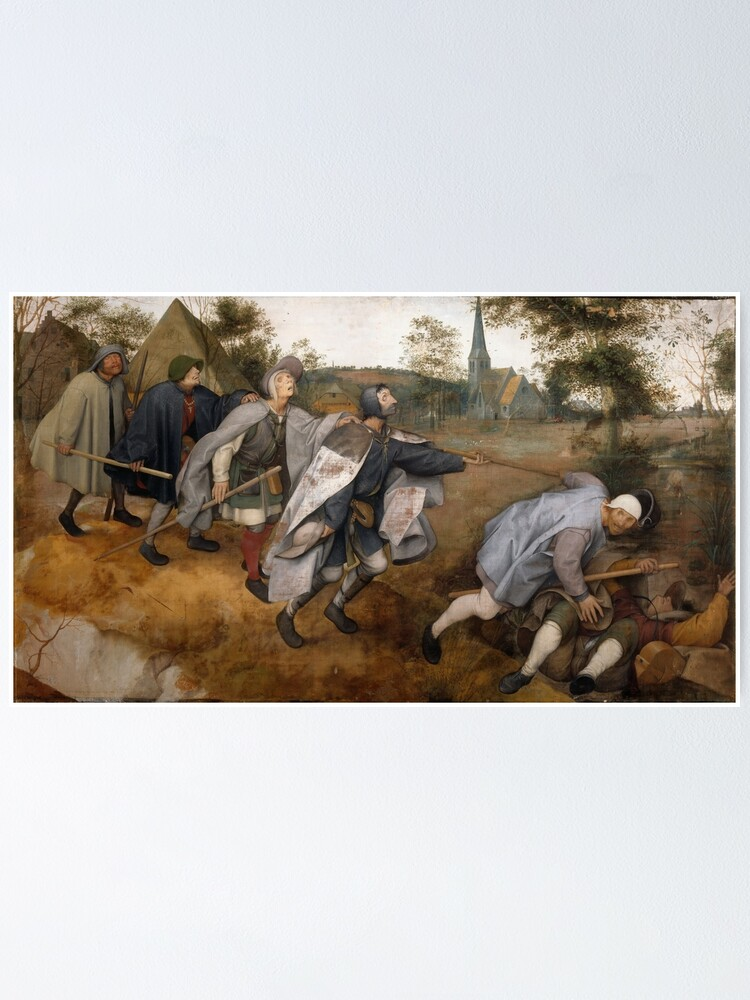 Alternate view of The Blind Leading the Blind, The Parable of the Blind Poster