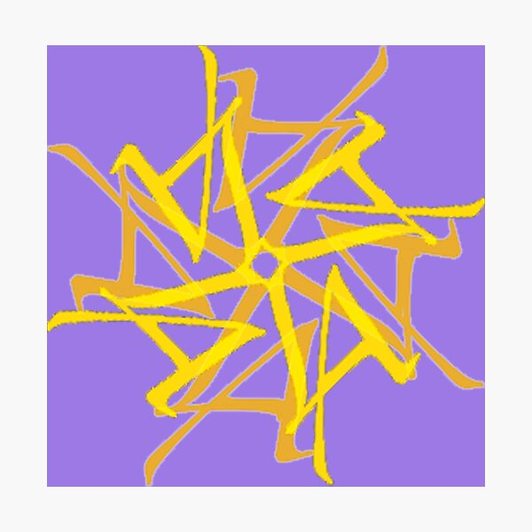 L A Tantra Logo On Lavender  Photographic Print