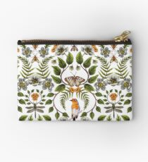 Frühlings-Reflexion - Blumen- / botanisches Muster mit Vögeln, Motten, Libellen u. Blumen Täschchen