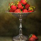 Strawberries On A Pedestal by Holly Cawfield