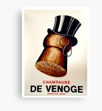 Vintage French Champagne Poster Canvas Print