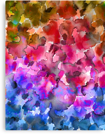 Quot Color Me Floral 4 Whimsical Abstract Watercolor Painting