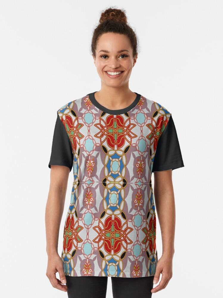 Alternate view of Pattern, design, arrangement, collection, collage, picture, pastiche, tessellated Graphic T-Shirt