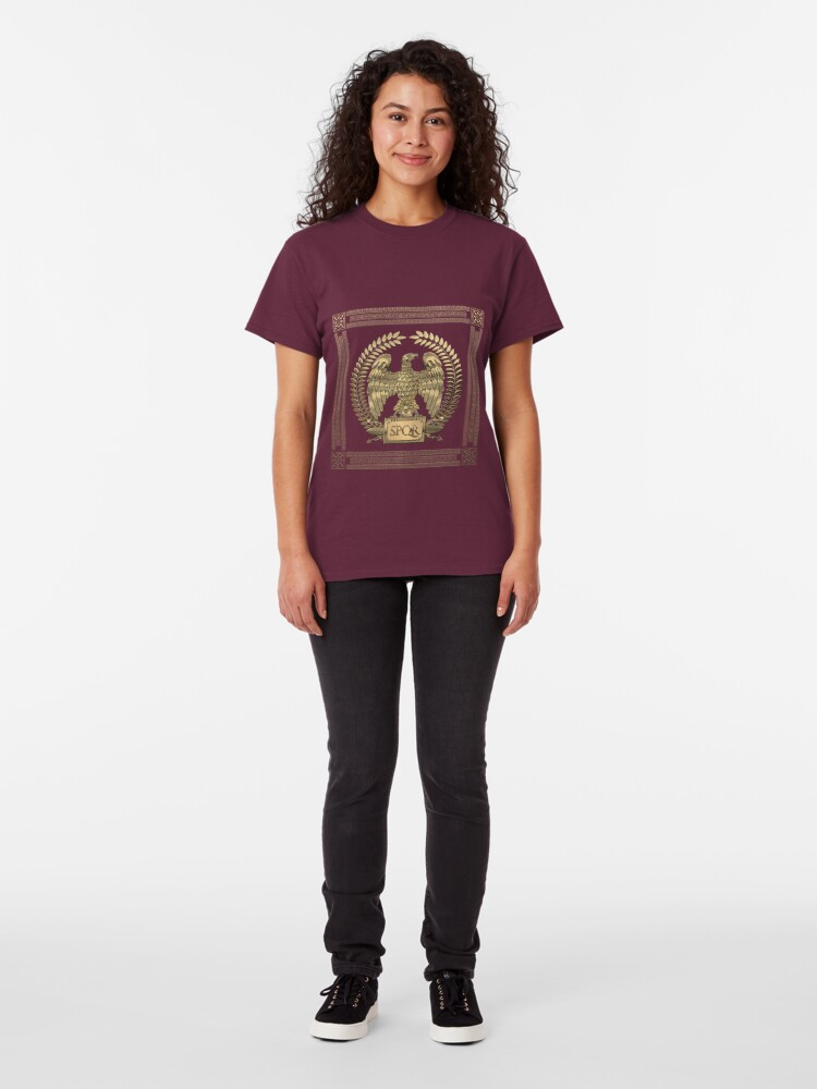Alternate view of Roman Empire - Gold Imperial Eagle over Red Velvet Classic T-Shirt