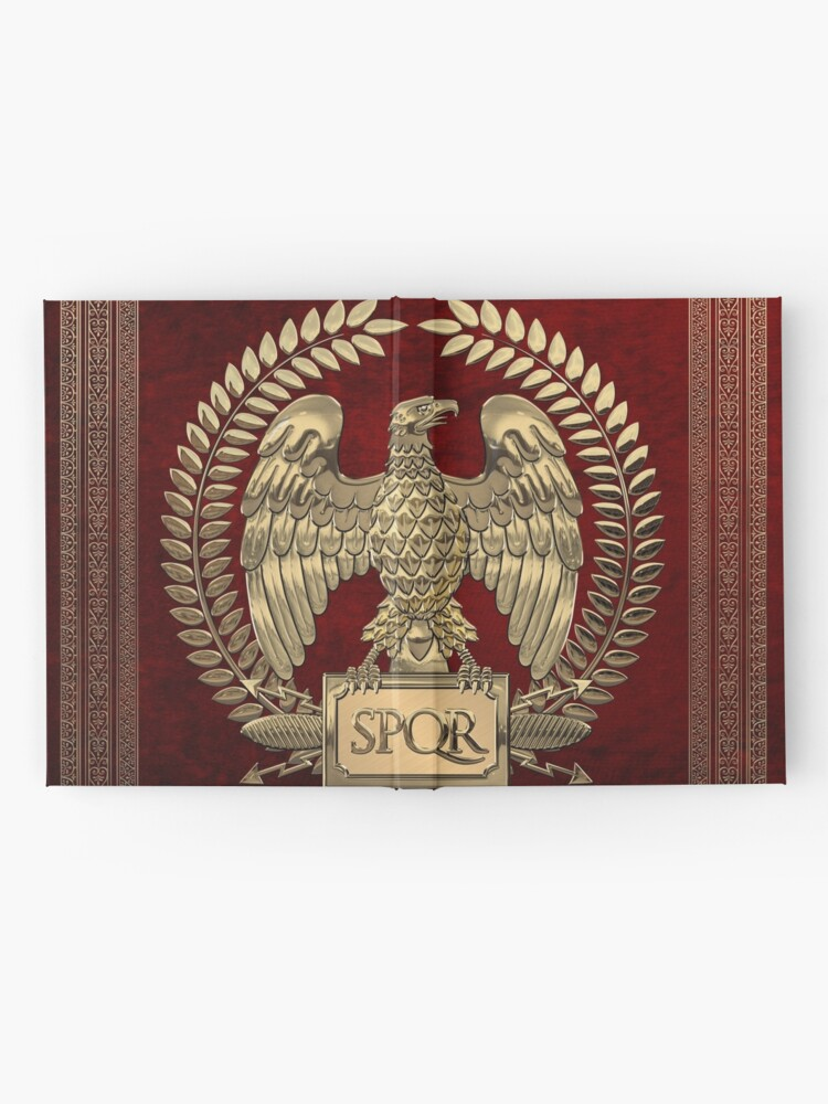 Alternate view of Roman Empire - Gold Imperial Eagle over Red Velvet Hardcover Journal