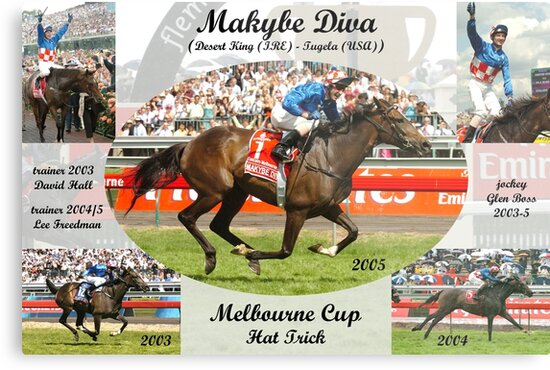 Makybe Diva Melbourne Cup Hat Trick by quentinjlang