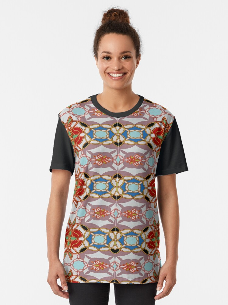 Alternate view of  pattern, design, arrangement, collection, collage, picture, pastiche, tessellated, decorate Graphic T-Shirt