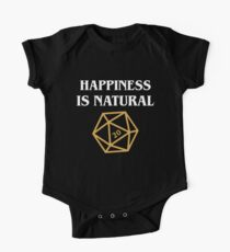 Happiness is Natural 20 Quotes Dungeons and Dragons DnD Tabletop RPG Gaming One Piece - Short Sleeve
