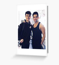Charlie Stemp and Andy Karl Greeting Card