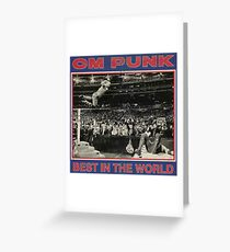 CM Punk - Best In The World Greeting Card