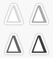 DELTA / 4 PACK / MONOCHROME Sticker
