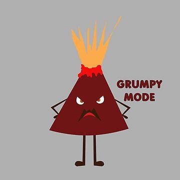 Grumpy Mode Volcano by jomzojeda