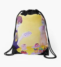 1960 Back to the Future with a friend Drawstring Bag