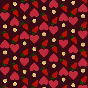 Chocolate, hearts and strawberries  by Veata