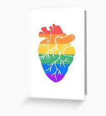 rainbow pride heart Greeting Card