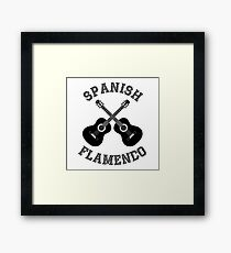 Spanish Flamenco music Framed Print
