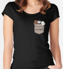 We Bare Bears Pouchie Shirt Fitted Scoop T-Shirt