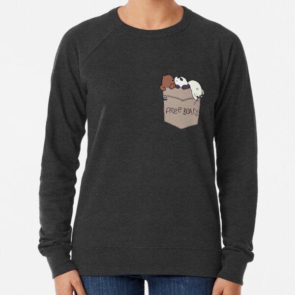We Bare Bears Pouchie Shirt Lightweight Sweatshirt