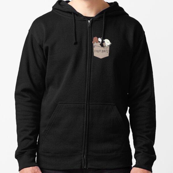 Team black poodle hoodie by Bertie free worldwide shipping black