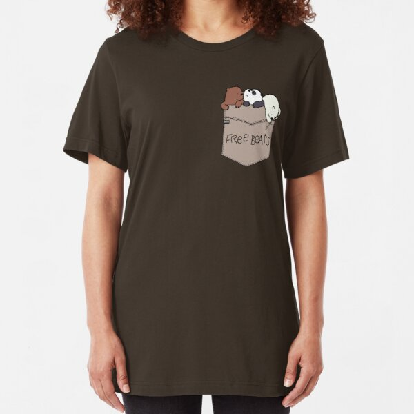 We Bare Bears Pouchie Shirt Slim Fit T-Shirt