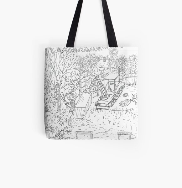 beegarden.works 013 All Over Print Tote Bag