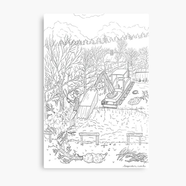 beegarden.works 013 Metal Print