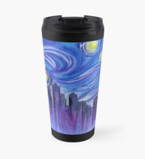 Starry Night Over Seattle Travel Mug
