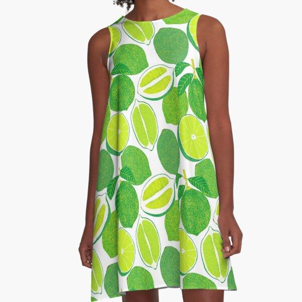 Kalk-Ernte A-Linien Kleid