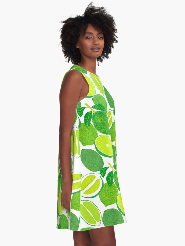 Alternate view of Lime Harvest A-Line Dress