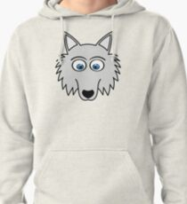 Sweet Cute Lovely Wolf Comic Dog (Gift, Present) Pullover Hoodie