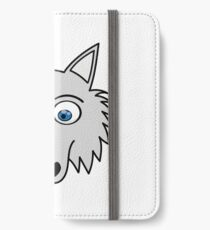 Sweet Cute Lovely Wolf Comic Dog (Gift, Present) iPhone Wallet/Case/Skin