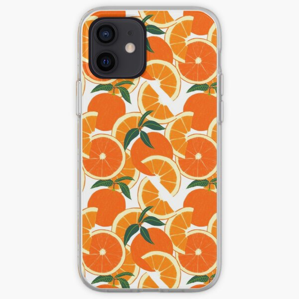 Orange Harvest - White iPhone Soft Case