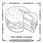 The Cake Burger - Color That Burger Designs by aidadaism