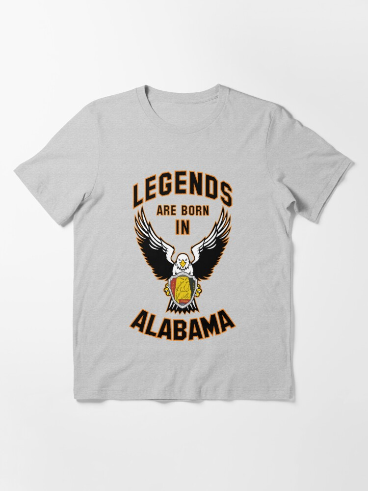 Alternate view of Legends are born in Alabama Essential T-Shirt