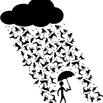 """A pictorial representation of the idiom, """"raining cats and dogs"""". by oxz8551"""