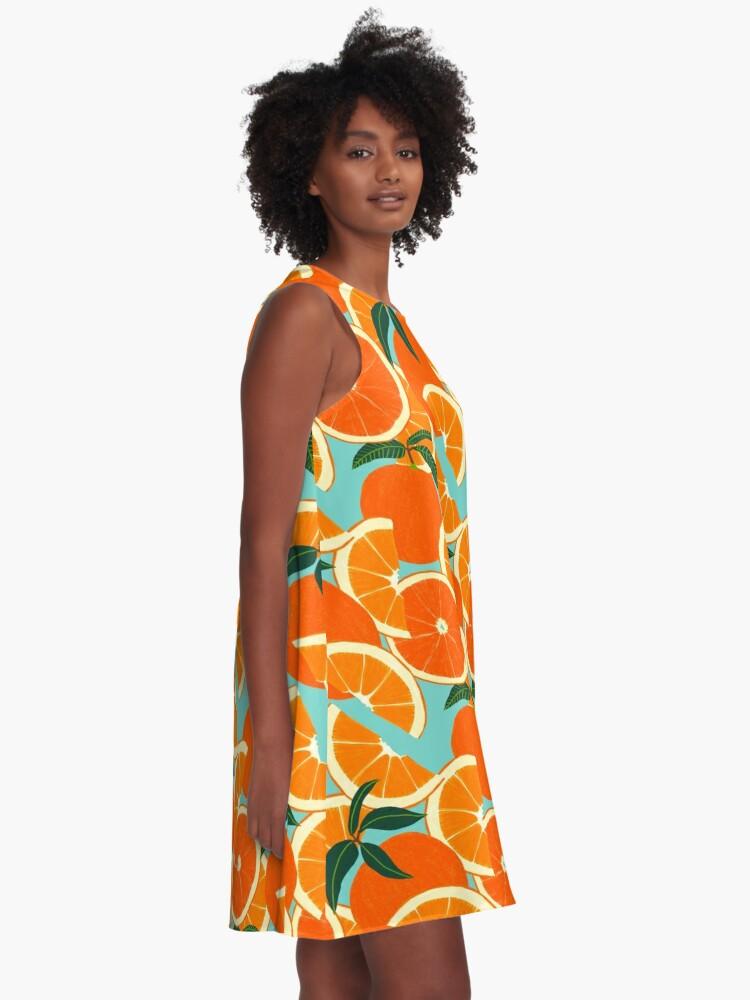 Alternate view of Orange Harvest - Blue A-Line Dress