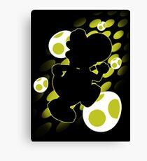 Super Smash Bros. Yellow Yoshi Silhouette Canvas Print