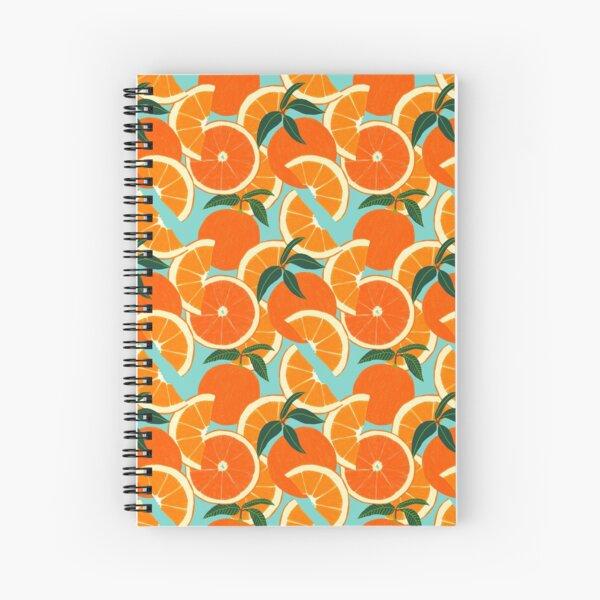 Orange Harvest - Blue Spiral Notebook