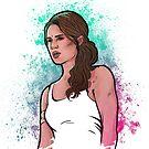 Neon Tomb Raider by RikDrawsThings